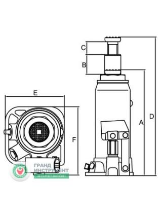 Домкрат бутылочный 32т (285-465 мм) T93204
