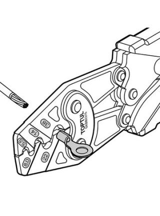 Клещи для обжимки клемм с трещоткой DKBB2315