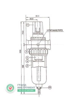 """Фильтр очистки воздуха (PROFI) 1/2"""" Italy AF804"""