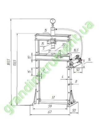 Пресс гидравлический 12т TY12002